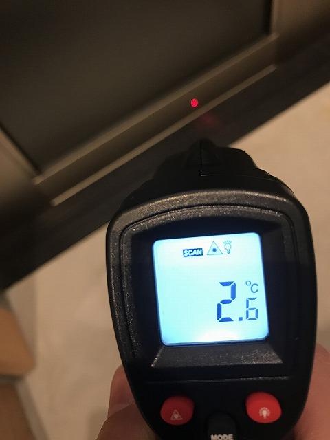 YKKAP コンコード(アルミ製)の下框の温度