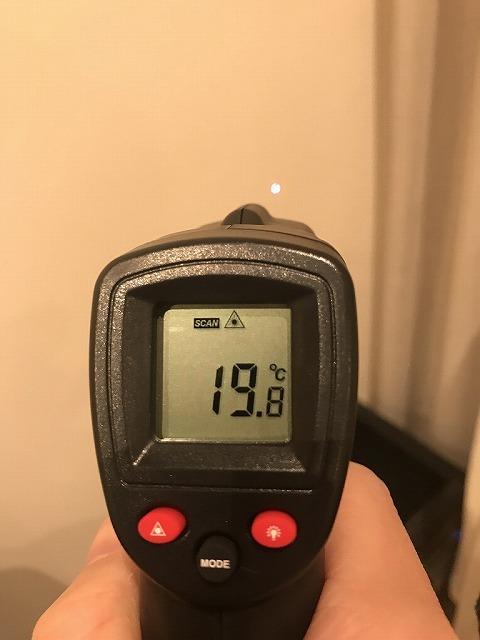 サーモスX(ペア)のある部屋の壁の温度