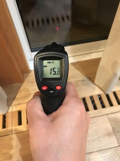 サーモスX(トリプル)の窓の温度