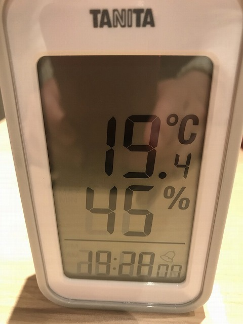 サーモスX(ペア)のある部屋の室温