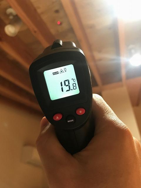 床下エアコン キッチンの天井