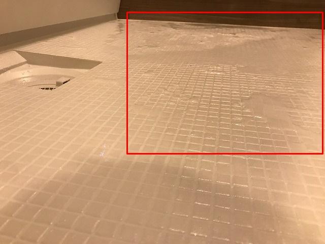 入浴直後のほっカラリ床の状態