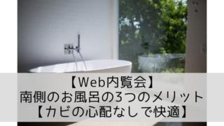 【Web内覧会】南側のお風呂の3つのメリット【カビの心配なしで快適】