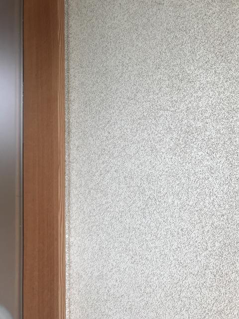 リシン吹き付けの外壁の写真(玄関の近く)