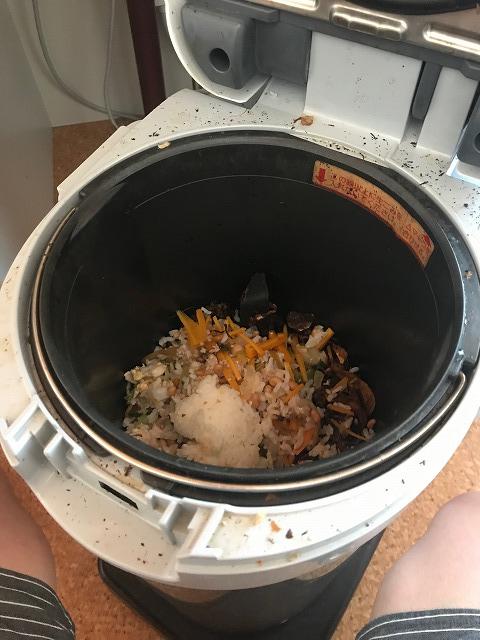 生ゴミ処理機パナソニックMS-N53本体まわりの汚れ
