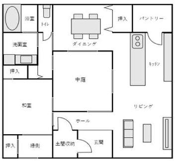 タウンライフ家づくりでもらえる平屋間取りプラン例