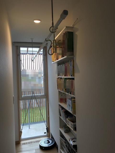 ニッチを活用した本棚
