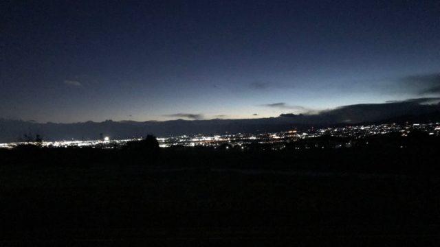 リビングから見える夜景