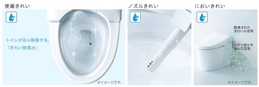 TOTOトイレの除菌と脱臭