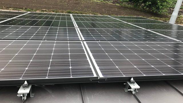 自宅屋根の太陽光発電