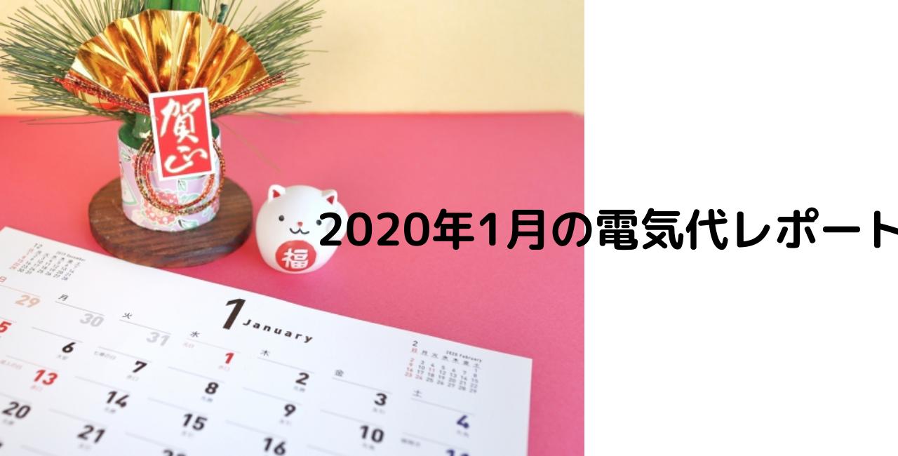2020年1月の電気代レポート