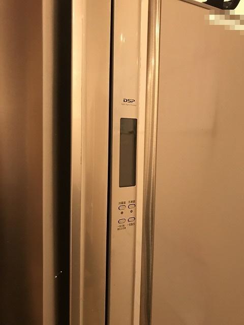 2009年製のGR-A43Fの液晶画面