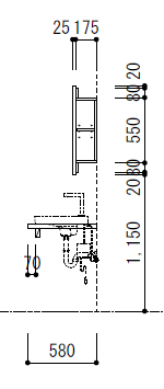 洗面所の展開図(2)