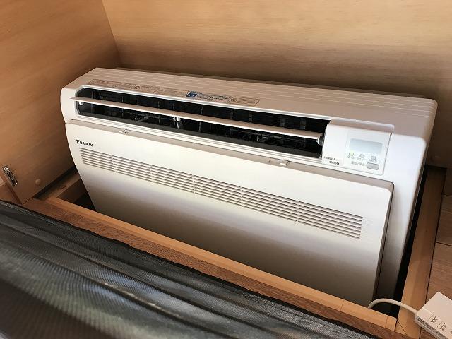 リビングの床下エアコン