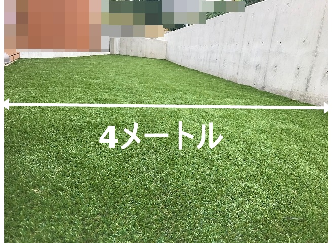 幅4メートルの庭