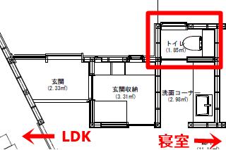 トイレの位置間取り図