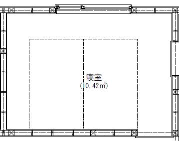 シングルベッド2台をおける寝室