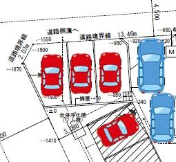 駐車場の配置