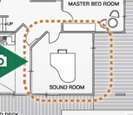 大和ハウスの平屋「xevoGranWood 奏でる家」の防音室の間取り図