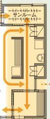 住友林業さんの平屋GRANDLIFEの洗濯動線間取り図