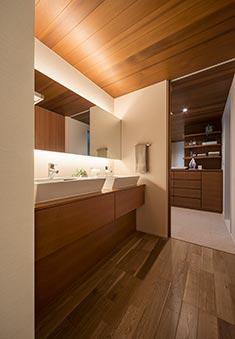 住友林業さんの平屋GRANDLIFEの洗面所