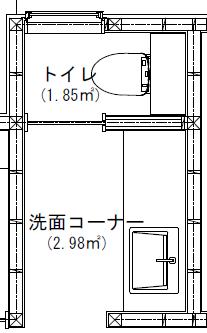 トイレと洗面所の間取り図