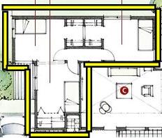 積水ハウスさんの平屋住宅「平屋の季(とき)」の個室