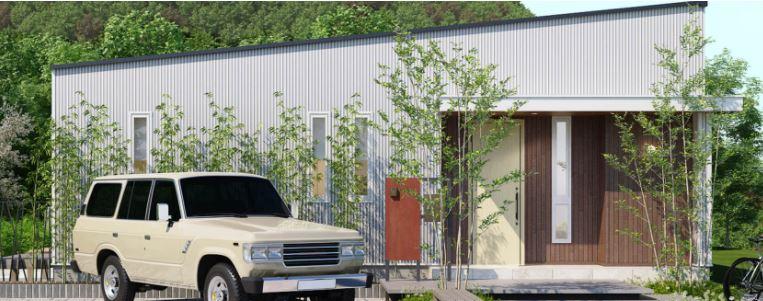 ジブンハウスさんの平屋住宅「1211F SCANDIA」の外観