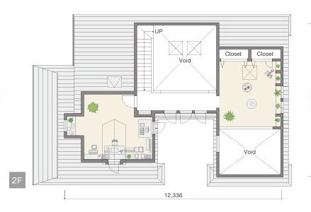 三井ホームさんの平屋住宅「WESTWOOD」の「アティックフロア」