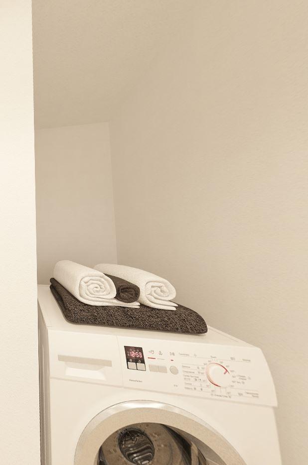 ジブンハウスさんの平屋住宅「1211F SCANDIA」の洗濯機上の空きスペース