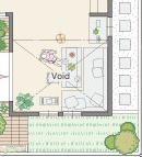 三井ホームさんの平屋住宅「WESTWOOD」のダイニング間取り図