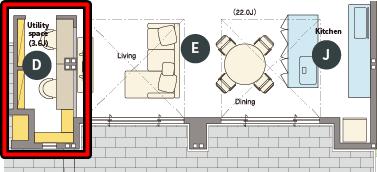 トヨタホームさんの平屋住宅「シンセ・スマートステージプラス(平屋)」のホームオフィスの間取り図