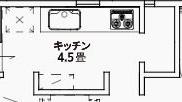 ジブンハウスさんの平屋住宅「1211F SCANDIA」のキッチン間取り図