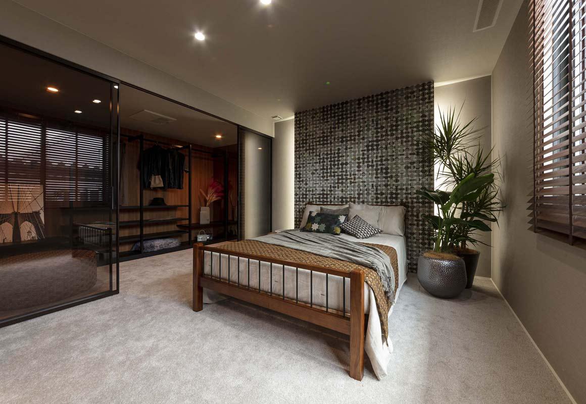 トヨタホームさんの平屋住宅「シンセ・スマートステージプラス(平屋)」の主寝室の写真