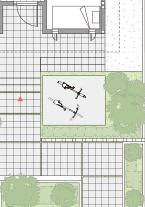 トヨタホームさんの平屋住宅「シンセ・ピアーナ」の小屋裏収納の自転車置き場間取り図