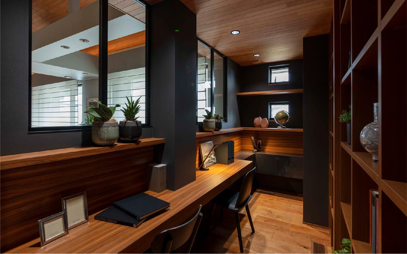 トヨタホームさんの平屋住宅「シンセ・スマートステージプラス(平屋)」のホームオフィスの写真