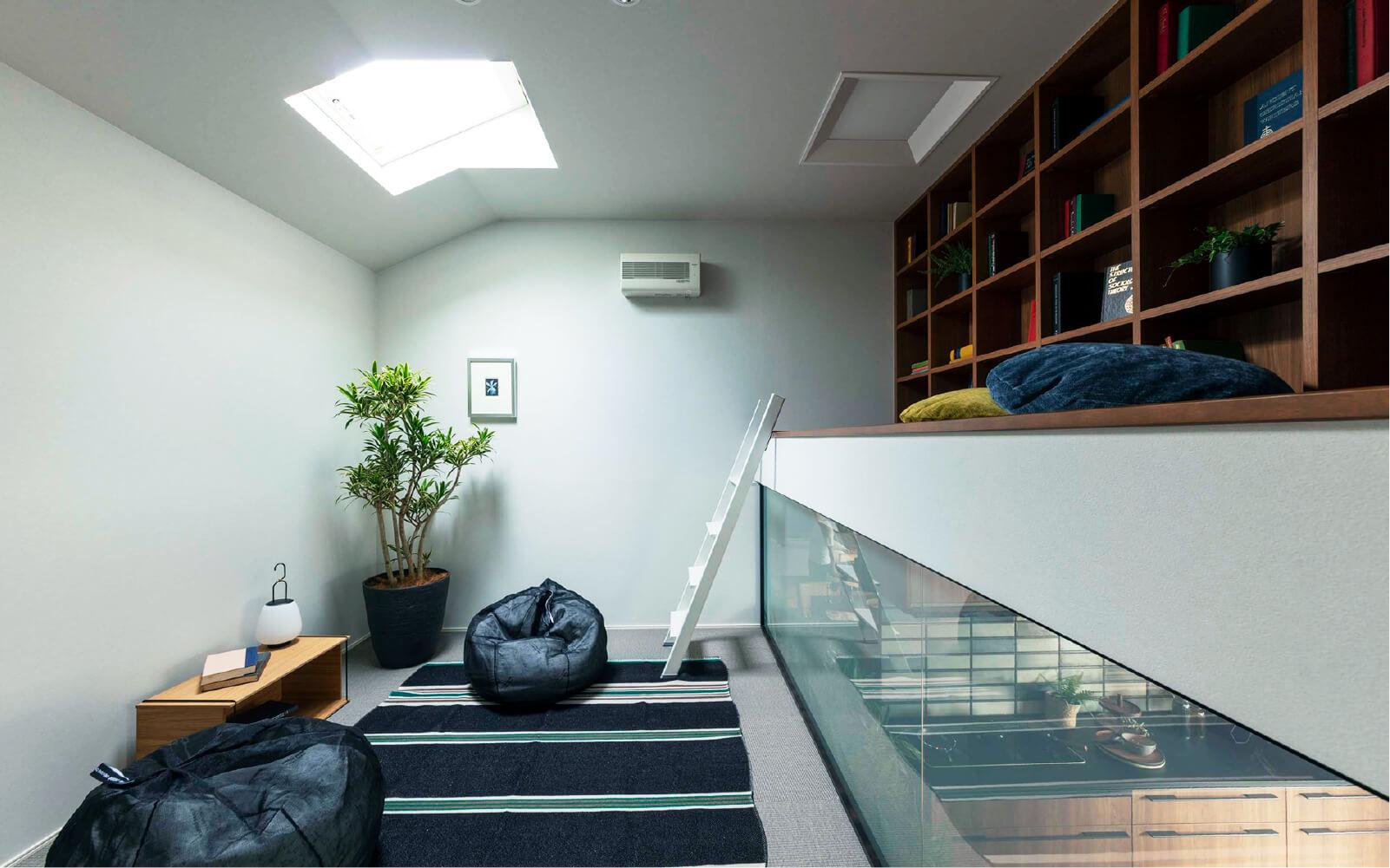 トヨタホームさんの平屋住宅「シンセ・スマートステージプラス(平屋)」のスキップフロアの写真